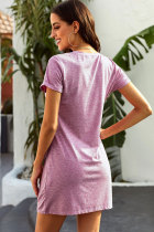 Màu hồng The Triblend Side Hôn Dress