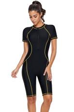 Gul søm Contoured Zip Front Wetsuit