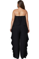 Black Prime Dreams Plus Size Quai Ruffle Jumpsuit