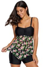 گل لایشی Skirted Bandeau Tankini Top