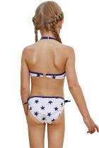 Halter Neck Blue Stars Imprimați Bărbați de costume de baie din bikini