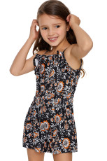 Black Girls' Sleeveless Romper