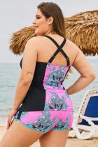 Swimwear Rose Size Floral Plus Size