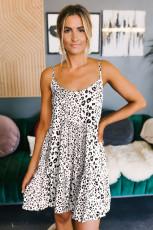 Λευκό φόρεμα Leopard Babydoll λευκό