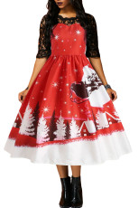 Jingle All The Way Jultryck Flared Dress