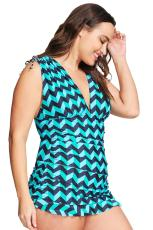 Tankini Ruched Green Plus Size Green Greater