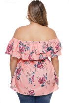Rosa Plus Size Floral Tiered Off the Shoulder Top