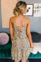 Đầm Apdot Leopard Babydoll Dress
