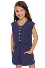 Blue Little Girls Cassie Romper