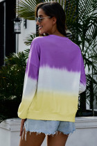Pulover Modena Color Block Tie Dye Pullover