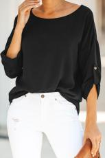 Zwart Take Note Blouse