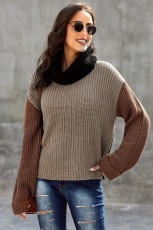 Blind Pullover Knit Sweater Pullover Knit Sleeve Turtleneck
