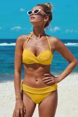 Keltainen riimu Twist Waffle Bikini