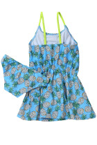 Blue Pineapple Tisk Little Girls Swimdress s Panty