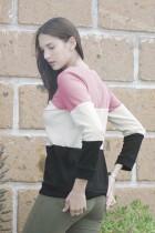 Ροζ Μίλερ Colorblock Cozy Thermal Top