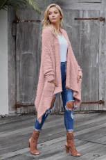 Ροζ χειμωνιάτικη τσάντα από βαμβάκι