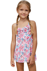 Blå Pink Multi-lag Ruffles Toddler Girls Swim Dress