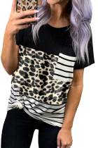 Leopard stribet Camo Pocket T-shirt