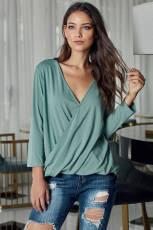 Πράσινη μπλούζα Hi-lo Hem