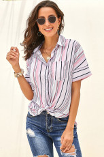 Pink Gingham Play Button Down Shirt