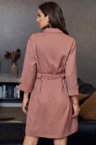 Розовое платье-рубашка Seeker с поясом