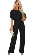 Musta Oh So Glam Belted Wide Leg Jumpsuit