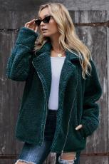 Green Breaker Pocketed Sherpa Statement-jas