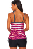 Red Print Tankini Swimwear