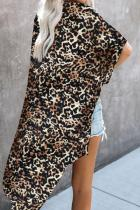 Brown Born To Out Out Leopard Kimono