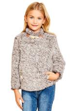 Tan Long Sleeve Fleece Pullover Sweater Girls