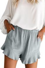 Gråblå linned Bomuldslommer med lommer og lommer