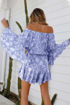 Paars off shoulder Boho rompertje