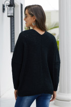 Black Oversize Button Front Cardigan