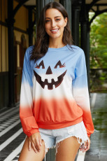 Bluza z dyni Halloween Ombre Color Block