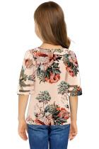 Κοσμηματοειδές μπλουζάκι μπλουζάκι 3 / 4 κοριτσιού βερίκοκου