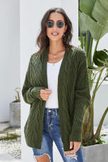 Green Dolman Sleeve Cardigan Card Front