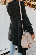 Μαύρο χειμωνιάτικο βαμβακερό παλτό