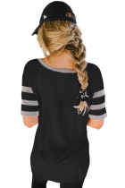Black Varsity V Neck Tee de baseball