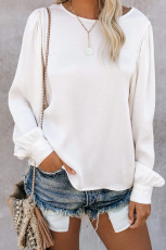 Billowy Bell Sleeve Top Pullover Top Relaxed