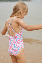 Blårosa Flerlags Ruffles Toddler Girls Maillot