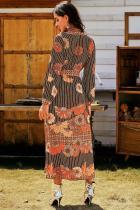 Милое макси-платье с цветочным принтом
