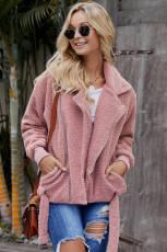 Pink Niagara Falls lomme Sherpa-jakke