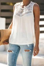 White You Milik With Lace Tank