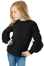 Sort Ruffle Raglan Pullover Girls Top