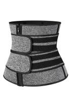 Shaper per il corpo in neoprene con cinturini sportivi per il sudore grigio sauna