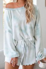 Himmelblå Tie-dye Pyjamas Loungewear Set
