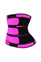 Rose 9 Steel Bones Latex Belt Waist Trainer with Hook