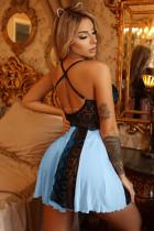 Blueevê Blue Blue Lace Nightdress Babydoll