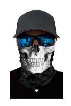 Hvit ansiktsmaske med hodeskjerfhode