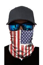 علم الولايات المتحدة الأمريكية طباعة درع يندبروف عصابات الرقبة للجنسين الجراميق